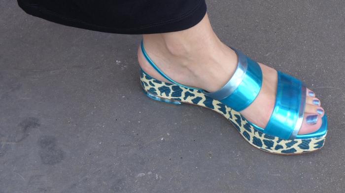 NK python sandals